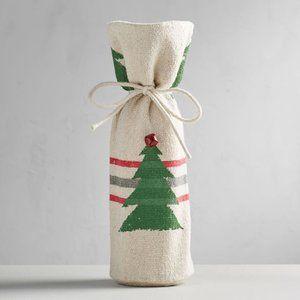 NWT Pottery Barn Christmas tree wine bag